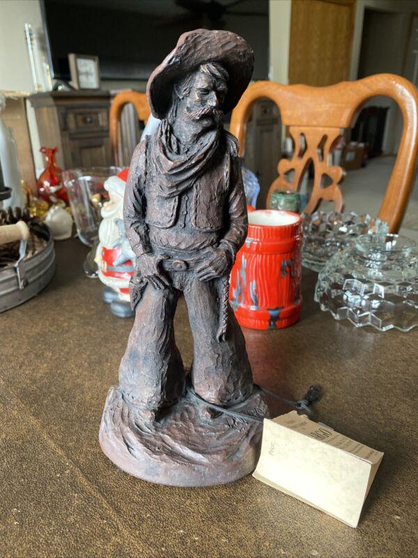 "Vintage J. Largo Signed Western Cowboy Sculpture 10"" ""Quirt"" #102 Rare Statue Pa"