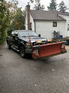 2008 Ford F-350 Lariat With Western Wideout Snow Plow