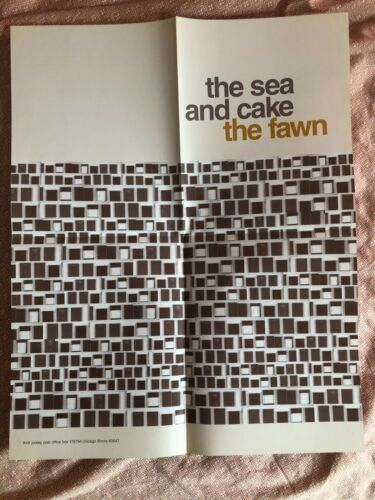 THE SEA AND CAKE - THE FAWN Promo Poster Thrill Jockey Records 1997 EXC