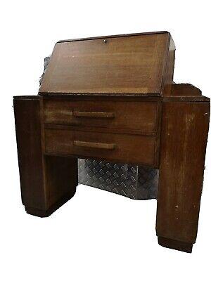 Solid Wood Oak Vintage Bureau
