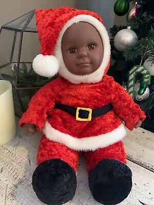 "Sugar Loaf Kostume Kids 18"" Plush African American Black Christmas Santa Doll"