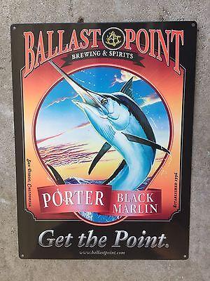 Ballast Point Black Marlin Porter Fish Craft Beer Brewery Vintage Ad Steel Sign