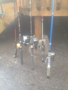 Fishing rod and reel's $20 each