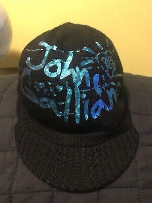 Rare John Galliano cap hat beanie Small Womens Size 2 Made Italy Kids Children
