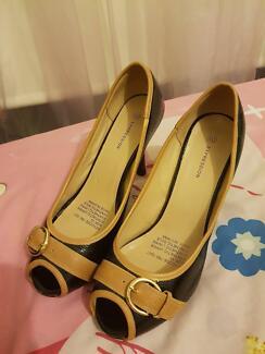 Black and brownish heels