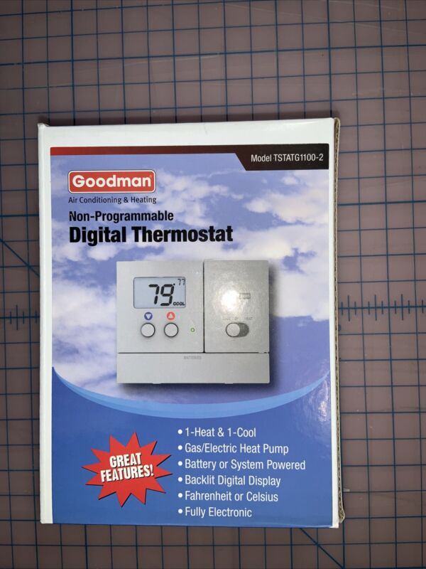 Goodman TSTATG1100-02  Non-Programmable Digital Thermostat Heat Pump