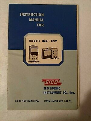 Original 1954 Eico 232 249 Peak-to-peak Vtvm Instruction Manual
