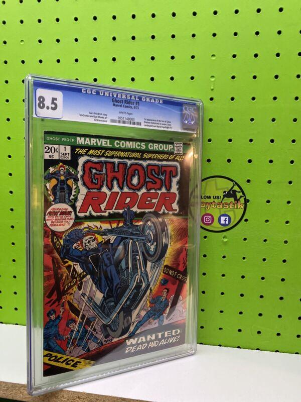 Marvel Comics CGC 8.5 Ghost Rider #1 1973 First Appearance Son of Satan Hellstro