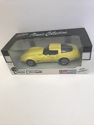 1:18 UT Classic Collection 1978 Yellow Corvette Coupe Die Cast Model New In Box