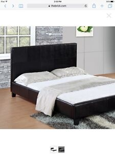 CHASE BROWN QUEEN SIZED BED FRAME