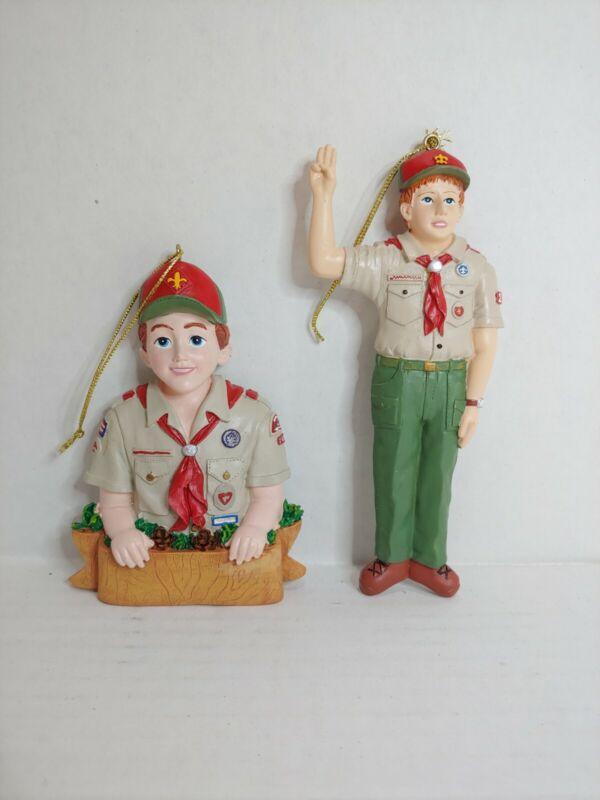 2 Boy Scouts Christmas Ornaments Kurt S. Adler