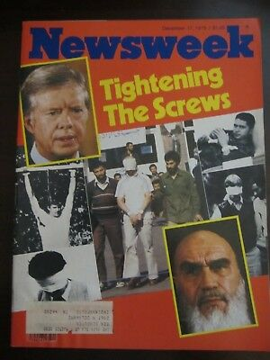 Newsweek Magazine December 1979 Tightening the Screws Iran Hostage Crisis