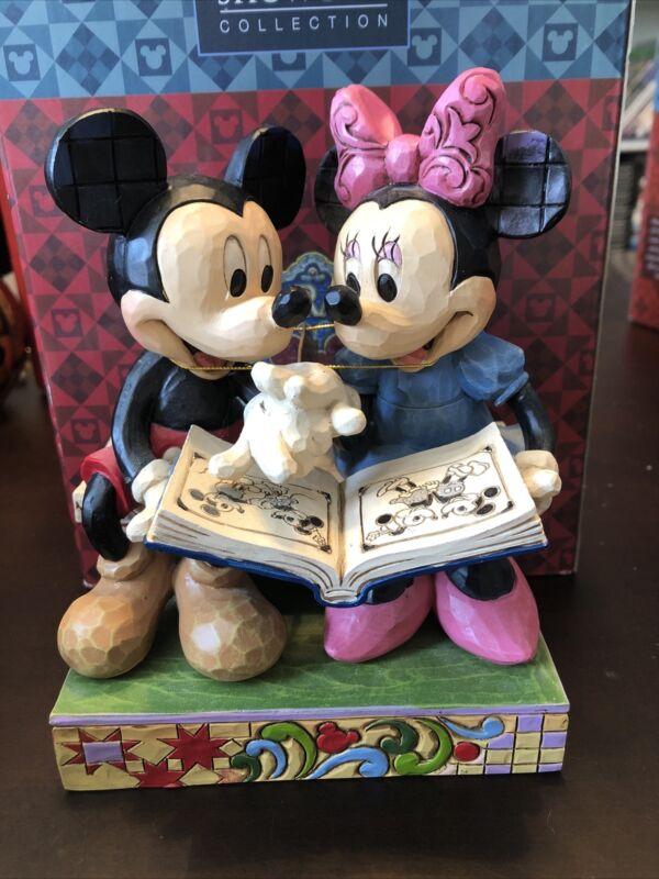 Jim Shore Sharing Memories Disney Traditions Mickey & Minnie 85th Anniv 4037500