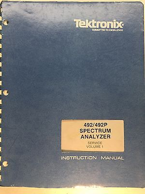 Tektronix 492492p Spectrum Analyzer Service Instruction Manual Vol1 070-2727-02