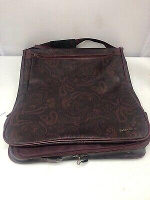 Vintage Samsonite Purple Paisley Luggage Garment Suit Bag