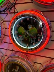 MICHAEL GODARD LAST CALL OLIVES DOUBLE RING NEON CLOCK - NEW - ONLY 1 EVER MADE!