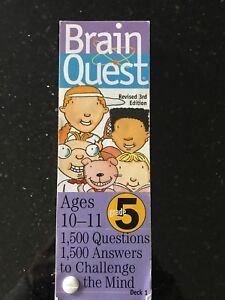 Brain Quest learning cards