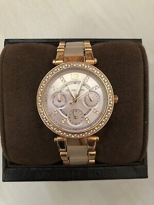 MICHAEL KORS Womens ROSE GOLD Watch with Crystals
