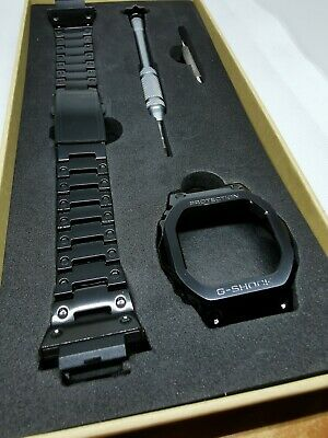 Black metal bezel and bracelet for Casio G Shock DW5600