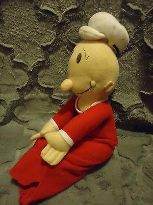 "KELLYTOY ""SWEET PEA"" POPEYE...RED/WHITE...SO CUTE & SOFT....11"" SITTING DOWN"