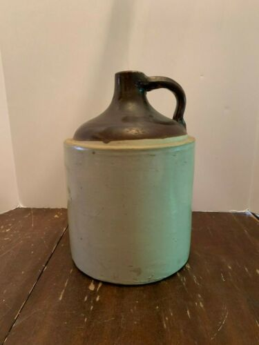Antique Stoneware Crock Whiskey Jug