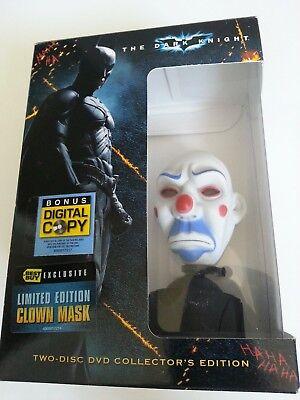 DC Batman The Dark Knight Joker CLOWN MASK only (No Movie Disc) in original box