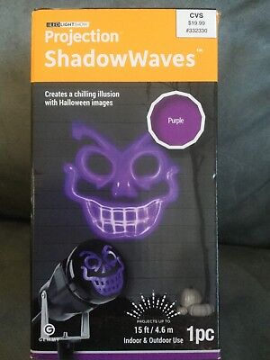 GEMMY BRAND HALLOWEEN PROJECTION SHADOW WAVES PURPLE 1 PIECE - NEW - Halloween Shadow Projection
