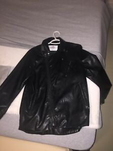 Men's Cheap Mondays Leather Biker Jacket (sm)