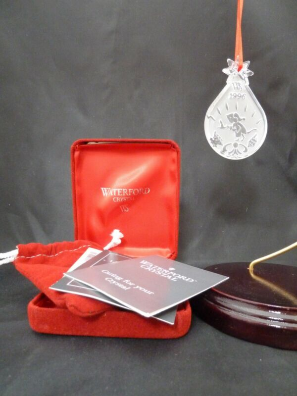 Waterford Crystal 1996 Not a CREATURE Twas Night Before Christmas Ornament  NIB