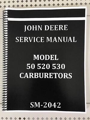 50 520 530 John Deere Carburetor Dealer Service Manual Repair Adjust Tuning
