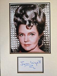 JANE-WYATT-STAR-TREK-ACTRESS-STUNNING-SIGNED-COLOUR-PHOTO-DISPLAY