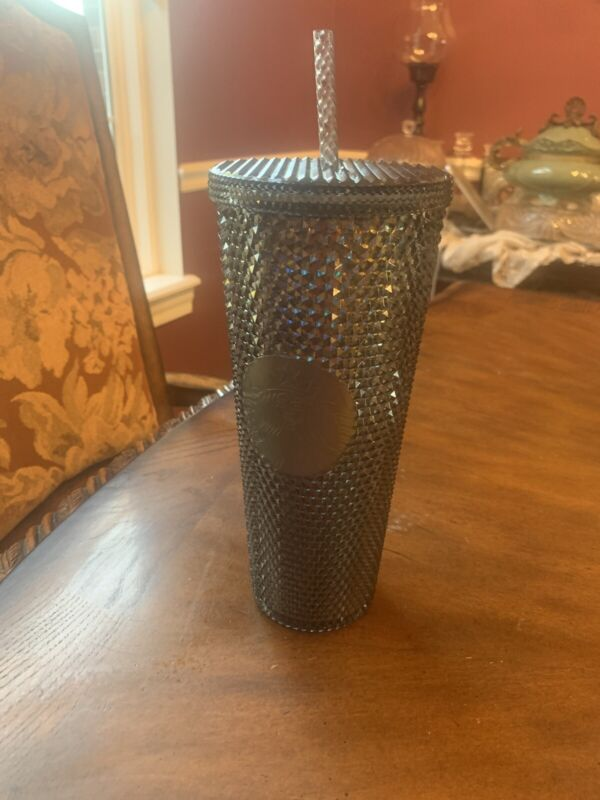 Starbucks 2020 Black Studded Venti Tumbler Cold Cup Fall 2020 Iridescent 24 Oz