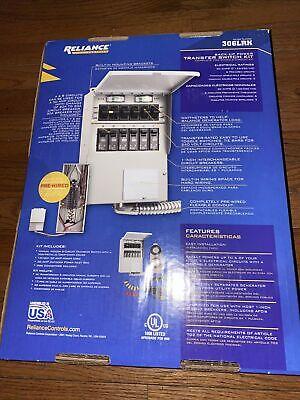 Brand New Reliance Controls 6-circuit Backup Power Transfer Switch Kit 306lrk