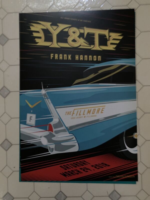 Y&T concert poster The Fillmore