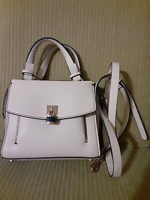 Zara Cross Body, Hand Bag Basic Collection White Small