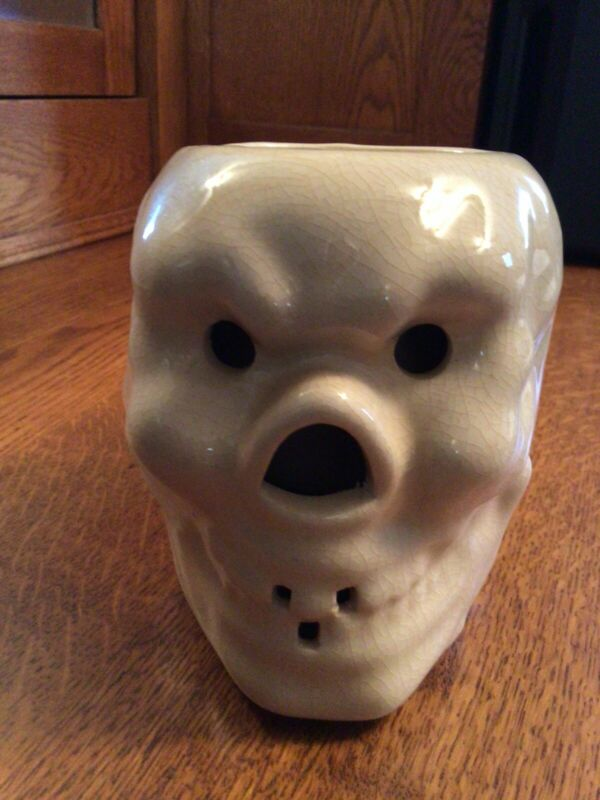 Vintage Otagiri Hawaian Ceramic Tiki Skull Coffee Mug