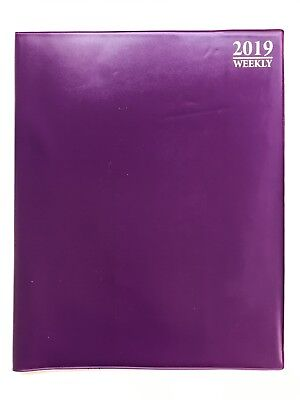 2019 Purple Weekly Daily Planner Appointment Book Calender Organizer 8 X 10