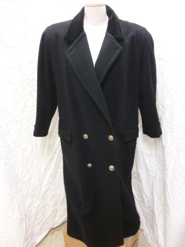 VINTAGE LONDON FOG WOOL DRESS COAT BLACK SIZE 10 PETITE