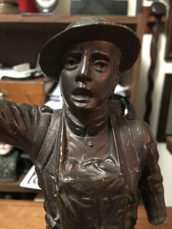 "WW1 era ""Spirit of the American Doughboy"" Cast Sculpture by E.M. Viquesney"