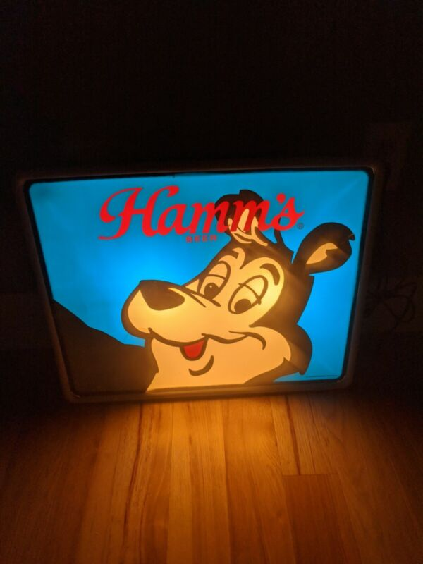 Rare Hamms Bear Beer Sign Vintage Lighted Bar Advertisment