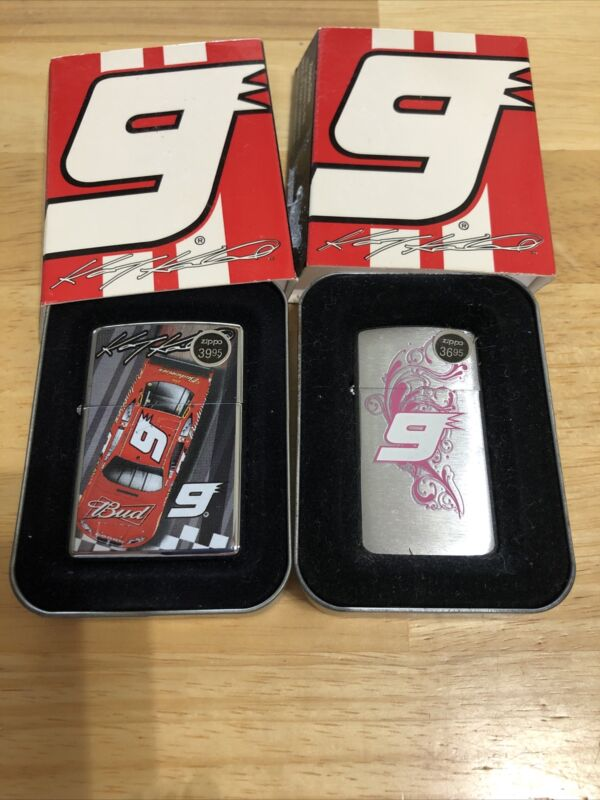 zippo lighters-(2)-NASCAR-#9-KaseyKahne-No Lids