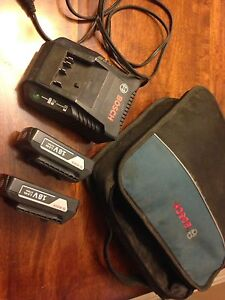 Bosch charger and battery set with case