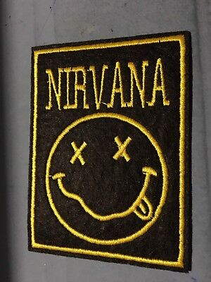 Nirvana Music Band Embroidered Metal Rock Sew On Iron On Patch 2.75