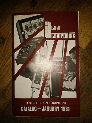 Albia Electronics Test Design Equipment Catalog January 1981