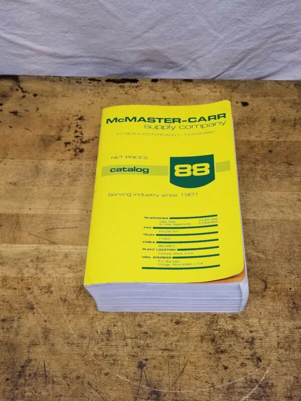 Mcmaster Carr No 88 Industrial Supply Catalog 1982