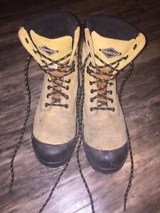 Workload steel toed boots