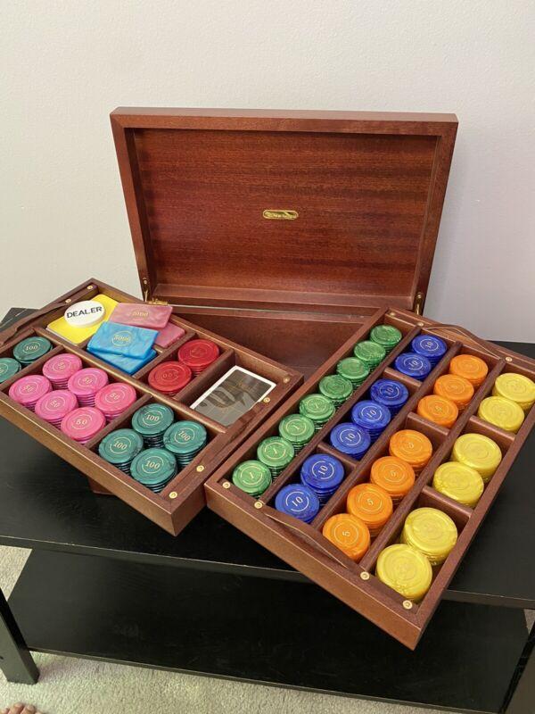 Renzo Romagnoli Luxury Poker Set   Wooden Box  