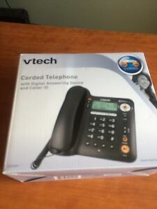 Land line telephone. With cordless phone.