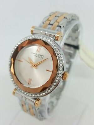 Anne Klein 12/2303SVRT Women's 32mm Crystal Accent Watch *NWT & SHIPS FREE*