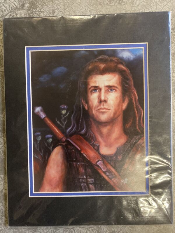 RARE AND COLLECTIBLE WILLIAM WALLACE (BRAVEHEART MOVIE) PAINTING